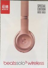 Beats By Dr Dre Solo3 WirelessHeadphones RRP£249- Rose Gold