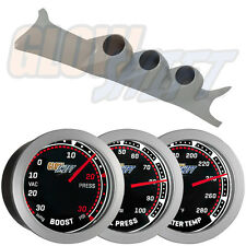 Gray 99-07 Ford Super Duty Triple Pillar Pod + 3 GlowShift Tinted Gauge Package