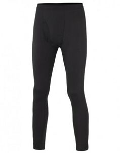 Men's TERRAMAR 2-Layer Authentic Thermal Bottoms BLACK Baselayer Pants NEW NWT