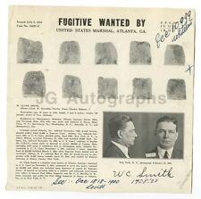 Wanted Notice - W. Clyde Smith/Fugitive - Atlanta, Georgia, 1934