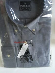 BRAND NEW THE SAVILE ROW COMPANY BLUE COTTON EASY CARE SHIRT 16.5 42