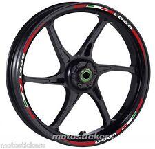 DUCATI Monster S4R - Adesivi Cerchi – Kit ruote modello tricolore corto