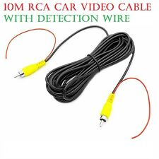 10M RCA Car Video Cable with Detection Wire for Car Rear View Camera and Monitor