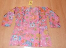 Leaves of Grass pink floral girls top NWT