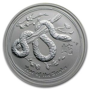 2013 Australia 50 Cents Series II Lunar Year of the Snake 1/2 oz Silver BU Coin