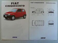 Prospekt Fiat Cinquecento, 4.1992, 8 Seiten + Technik/Ausstattung