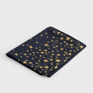 Avon Star Table Runner Navy Blue with Gold Stars New in Pack (55)