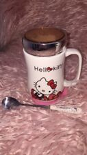 Cute Hello Kitty Ceramic Coffee Mug comes With Top/Cap, Spoon and Coaster 500ML