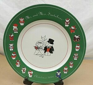 MR. AND MRS. SANTABEAR, CHRISTMAS 2000, STONEWEAR PLATE, DAYTONS/TARGET