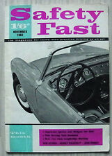 BMC SAFETY FAST Magazine Nov 1962 MG NEWS Mini Wins Saloon Championship