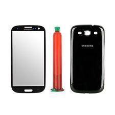 Samsung Galaxy S3 i9300 Frontglas und Backcover mit Werkzeug UV Kleber Schwarz