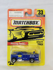1997 Matchbox Action System Utility Truck Blue W/Moving Parts 1:64 Scale