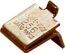 Knape & Vogt 256 Adjustable Steel Pilaster Shelf Support Clip 20 Pack Brass