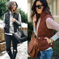 Women Sleeveless Winter Jacke Thick Warm Waistcoat Vest Coat Jacket Size S-3XL