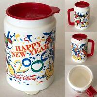 Walt Disney World Happy New Year 2000 Resort Travel Mug Cup and Lid