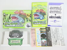 Pokemon Leaf Green Adapter MINT Condition Game Boy Advance Nintendo gba