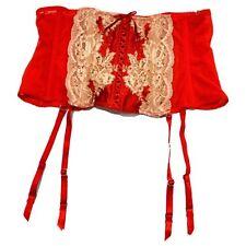 Victoria's Secret Red Lace Waist Cincher CORSET GARTER BELT M/L