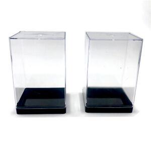 New 2PCS Dustproof Clear Acrylic Display Case Dolls Toy Storage Box Show Case
