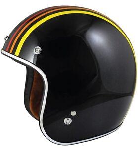 New TORC T50 Open Face 3/4 Motorcycle Helmet DOT Cafe Racer Retro Vintage