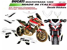 Adesivi per Ducati Multistrada 1200 DVT design 90°anniversario