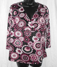 Zero 2 Nine Maternity Top Size S NWT Floral Print Empire 3/4 Sleeves Polyester