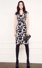 Tory Burch Dayton Dress Floral Velvet Sheath Purple Cream RUNWAY S M Size 6
