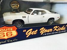 1971 PLYMOUTH CUDA ROUTE 66 NEW MEXICO Limited Ed 1/18 Ertl White RARE !