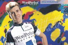 CYCLISME carte cycliste ATLE KVALSVOLL équipe WORDPERFECT