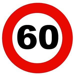 ROAD SIGNS (60 MPH SPEED LIMIT) - LARGE SOUVENIR NOVELTY FRIDGE MAGNET / SAFETY