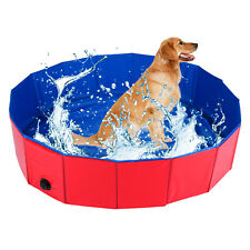 Pet Swimming Pool Bathing Tub Foldable Bathtub Dog Bath Washer 120*120*30CM
