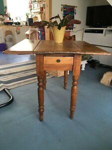 antique pembroke drop leaf pine table