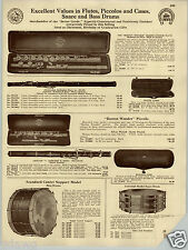 1930 PAPER AD The Boston Wonder Flute Piccolo V Kohlert & Sons Tonk Regal Banjo