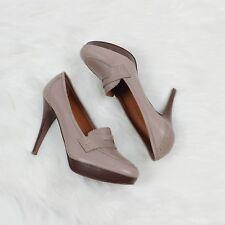 J Crew $265 size 10 Biella high heel loafer taupe