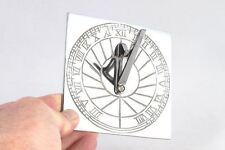 Bright Chrome Rising Sun Garden Sundial 120mm In Diameter