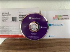 Windows 10 Pro Professional Microsoft product key & 64 bit DVD install  genuine