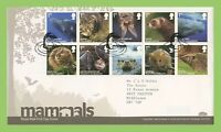 G.B. 2010 Mammals set on Royal Mail First Day Cover, Tallents House