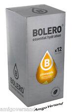 Bolero DRINKS - Pineapple (Ananas) - 12 Beutel für 18-36 Liter Getränk