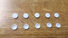 Pack of 10 Screw Caps hole covers light switch socket High Quality White plastic