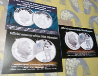 3 publicity cards for Olympics coins (20.2.30)