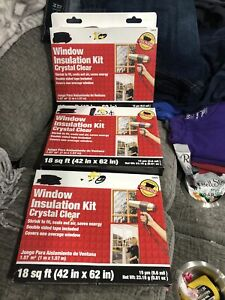 3  ACE WINDOW INSULATION KITS CRYSTAL CLEAR