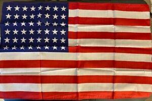 """1912 Silk American """"48 Star"""" Flag"""