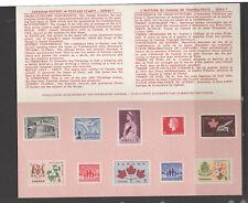 CANADA Souvenir card 1965 #7 airmail flowers