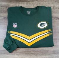 Reebok NFL Green Bay Packers Long Sleeve T-Shirt Mens Size XL Green