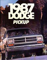 1987 Dodge Ram Pickup Truck Deluxe Sales Brochure Catalog - D150 D250 J0615
