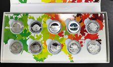 2014 O Canada 10 Coin .9999 Fine Silver Set - Complete!