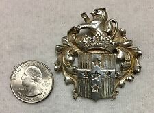 Vintage SELLON Sterling Silver Coat of Arms Brooch 20 Grams