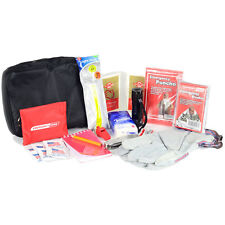BASIC AUTO SAFETY KIT - CAR VEHICLE EMERGENCY SUPPLIES & GEAR PACK: FIRST AID...