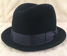 """New Country Gentleman """"FLOYD"""" 100% Wool Men's Hat Fedora Trilby X-Large Navy"""
