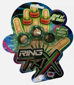 Ring Trix Magnetic Fidget Toy Glow in the Dark Calm De Stress RANDOM COLOUR!
