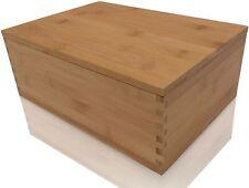 Wood Stash Box with Rolling Tray - Wood Storage Box Stash Boxes
